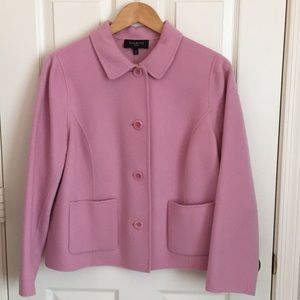 Talbots soft pink double faced jacket 12P like new